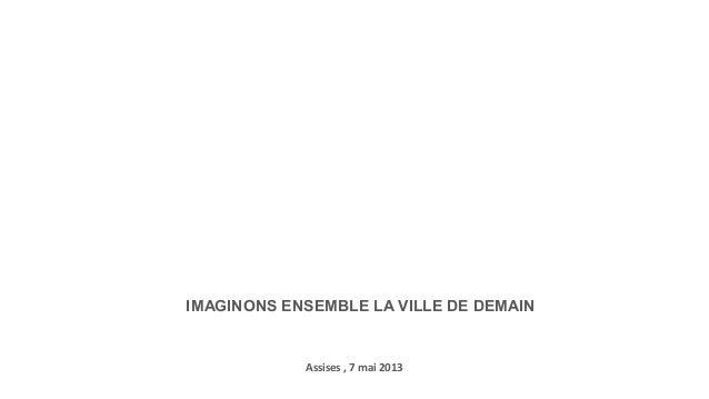 Presentation secchi vigano mensia assises du projet urbain 7 mai 2013