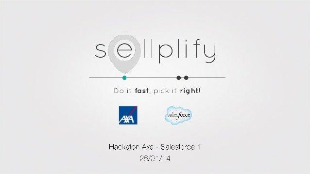 Hackathon AXA Salesforce- Sellplify