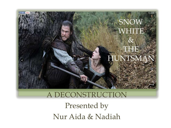 SNOW               WHITE                 &                THE             HUNTSMANA DECONSTRUCTION    Presented by Nur Aid...