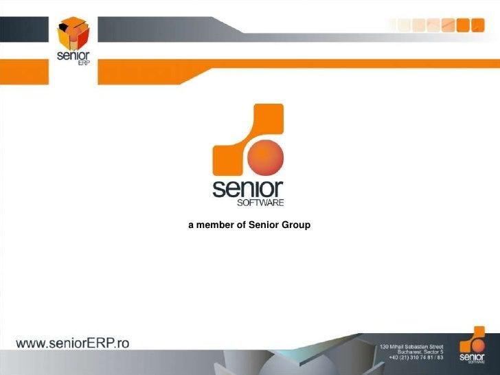 Presentation Senior Software