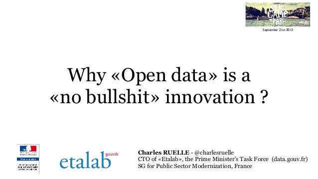 Why OpenData is a no bullshit innovation ? From SenseCamp