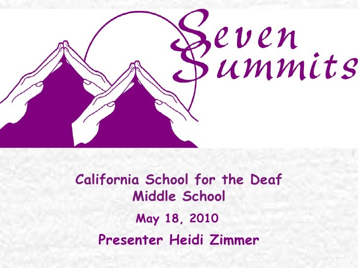 Presentation seven summits for high school