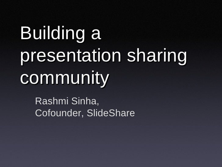 Presentation Sharing Community (Presentation Camp)