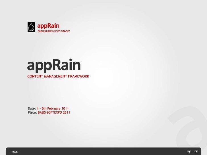 appRain CMF Presentation