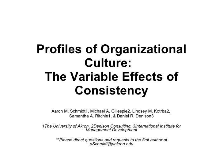 Presentation  S I O P  Profiles Of  Organizational  Culture