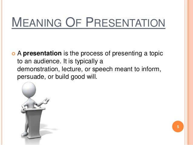 Presentation meaning