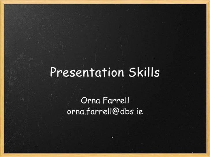 Presentation Skills2009