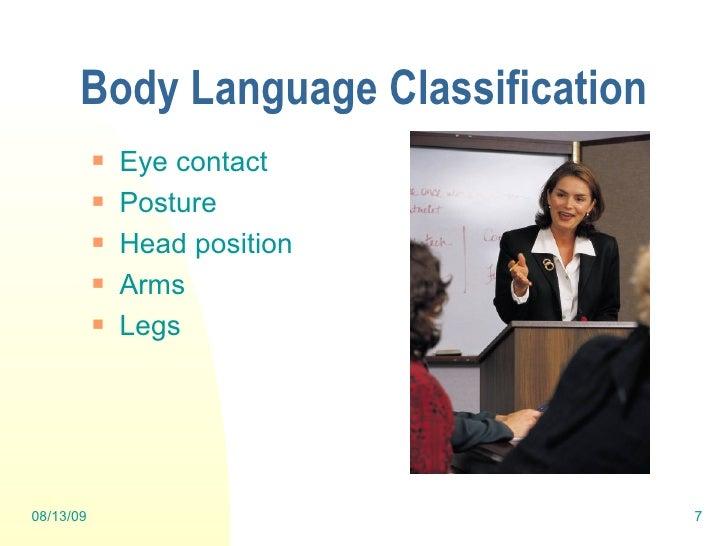 said probably business presentation, body language the