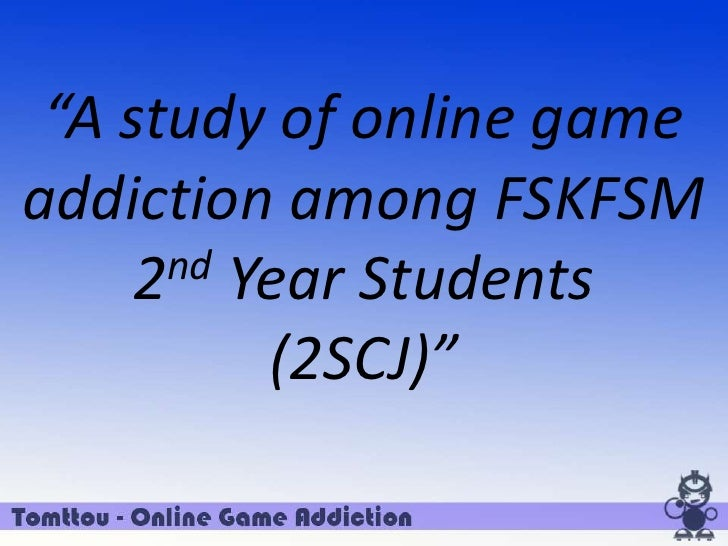 Thesis statement on video games addiction