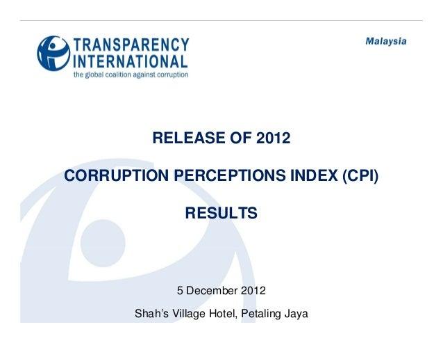 Corruption Perception Index 2012 (Malaysia)