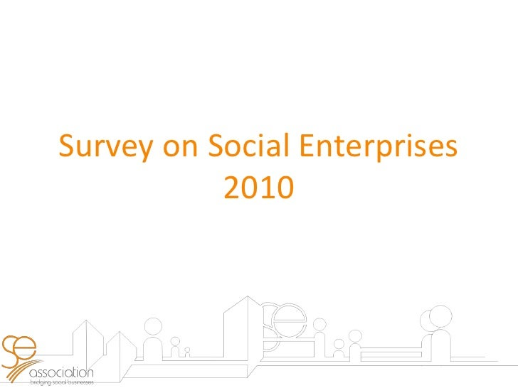 Presentation slides for survey results of social enterprises