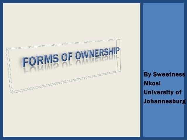 By Sweetness Nkosi University of Johannesburg