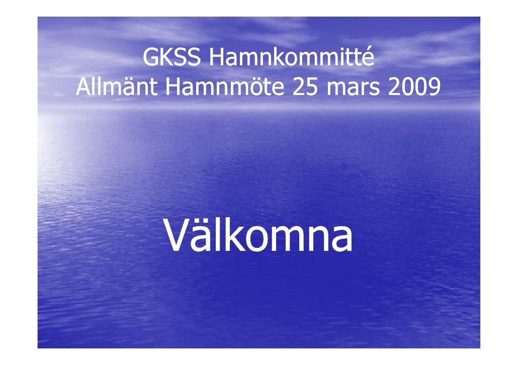 Presentationsmaterial Till Hamnmöte
