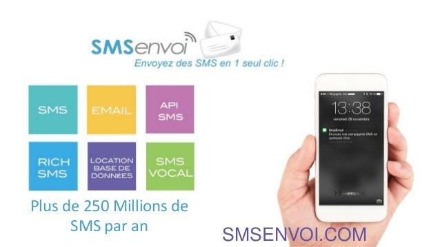 Plus de 250 Millions de SMS par an SMSENVOI.COM