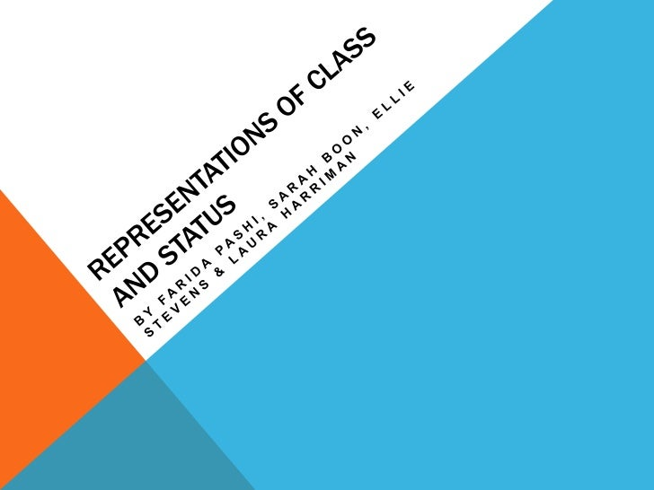 Representation Of Class & Status