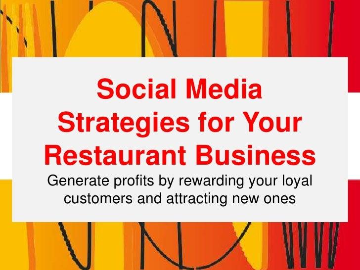 Social Media For Restaurants - Marketing Plan