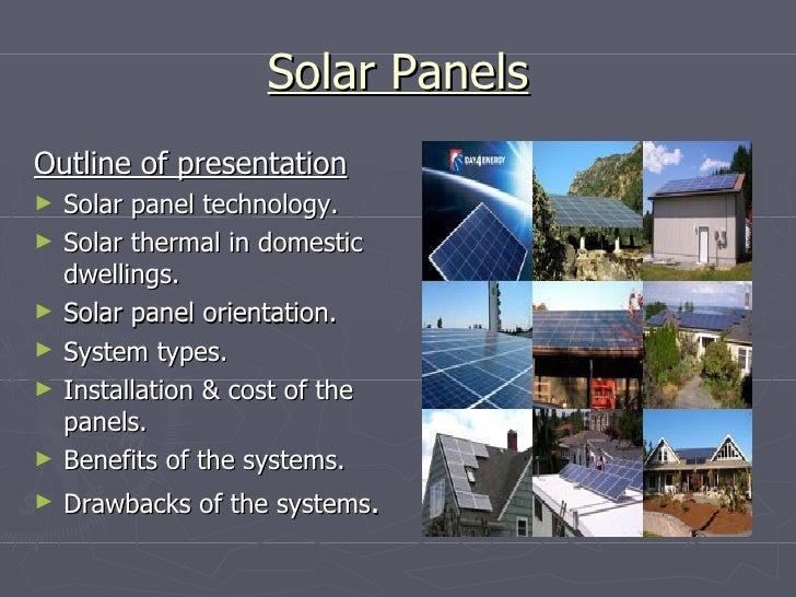 Presentation solar panels martin