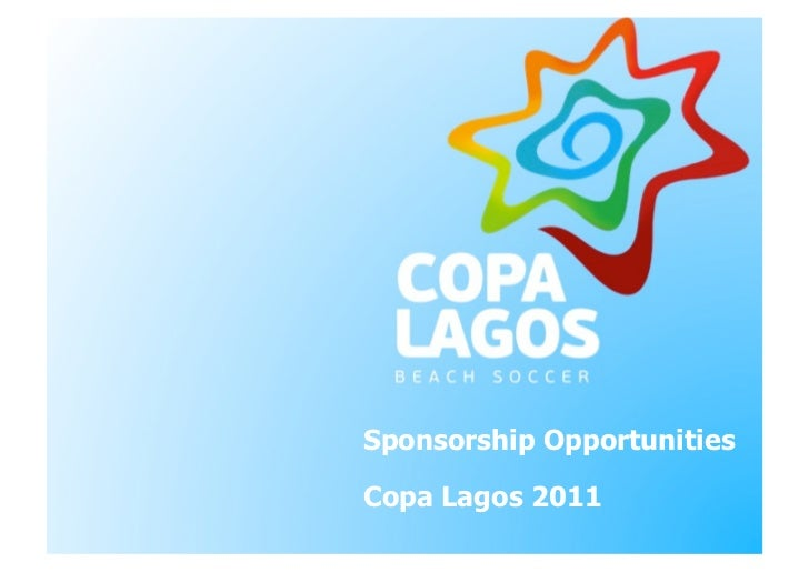 Sponsorship OpportunitiesCopa Lagos 2011
