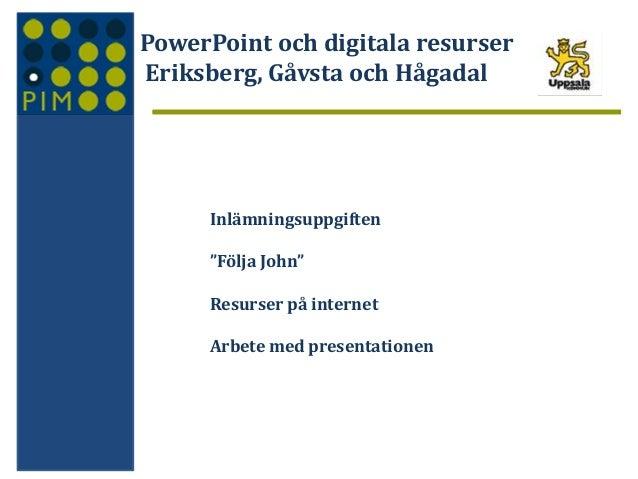 Presentationsprogram eriksberg