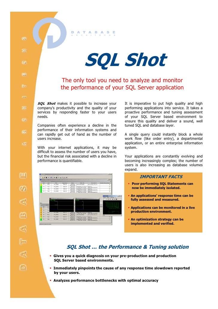 Theonlytoolyouneedtoanalyze,             monitorandenhanceyour               databaseperf...