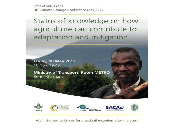 Presentations CCAFS Side Event during SBSTA 2012
