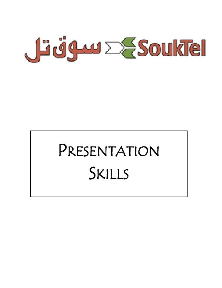 Presentations skills