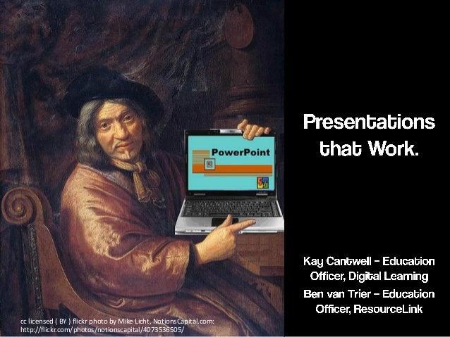 Presentations that work