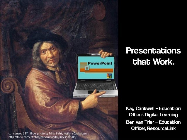 Presentations that work