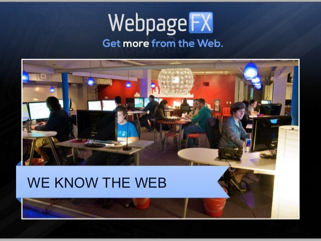 WE KNOW THE WEB