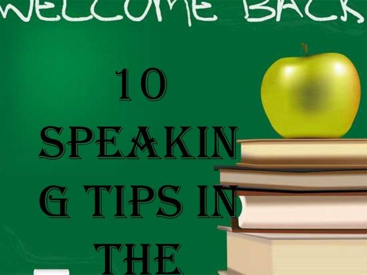 10Speaking Tips in