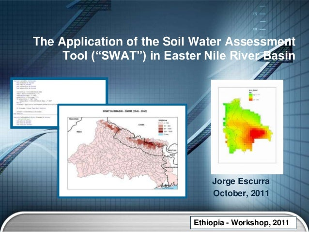 """The Application of the Soil Water Assessment     Tool (""""SWAT"""") in Easter Nile River Basin                               Jo..."""