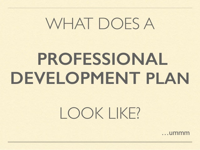 sample career development plans
