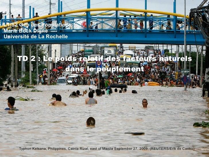 REUTERS/Strringer (MYANMAR) Mai 2008 L1/S2 Géo des Populations Marie Bock Digne Université de La Rochelle TD 2 : Le poids ...