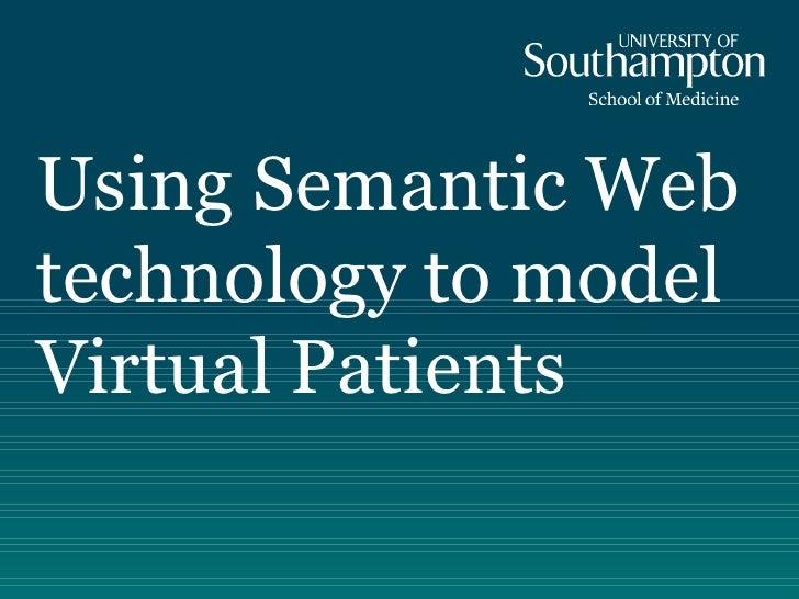 PhD: Semantic Modelling of Virtual Patient