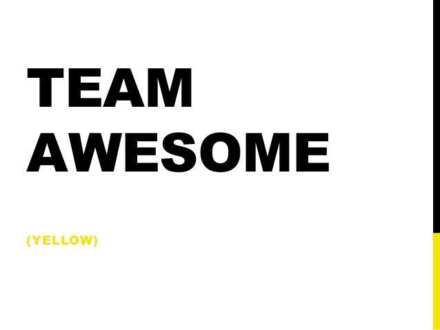 Presentation team yellow