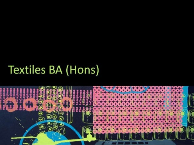 CSAD Field: Textiles