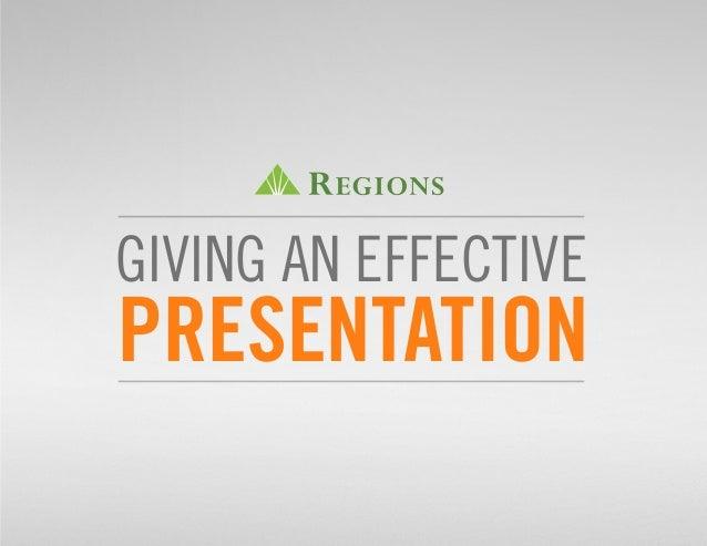 An effective presentation