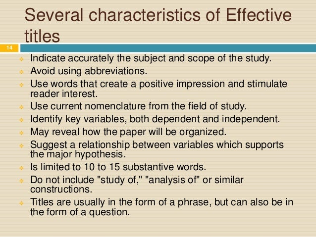 Abstract of research