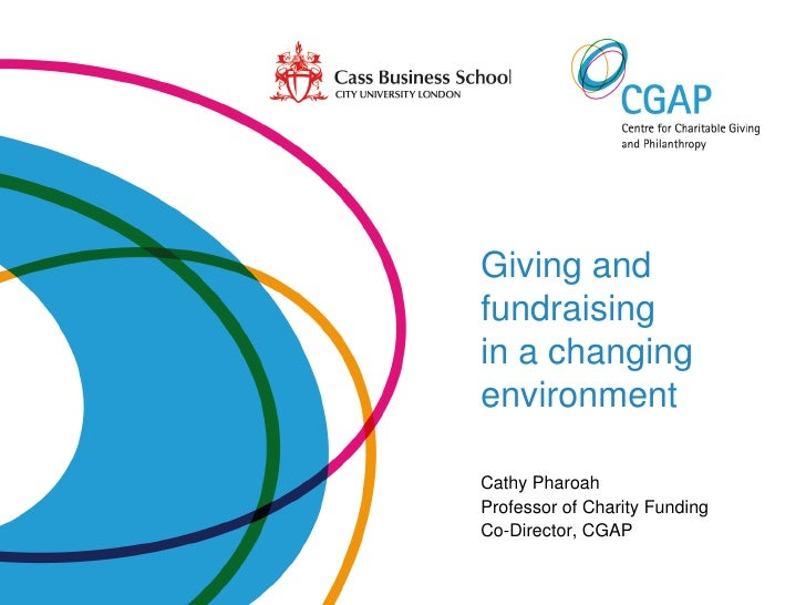 Giving and fundraising in a changing environment