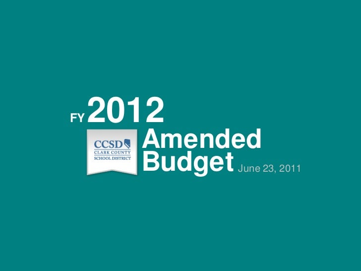 2012<br />FY<br />Amended<br />Budget<br />June 23, 2011<br />