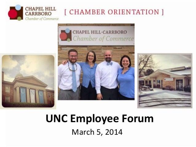 Presentation to UNC Employee Forum