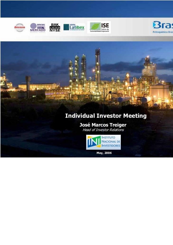 Presentation to ini   individual investors