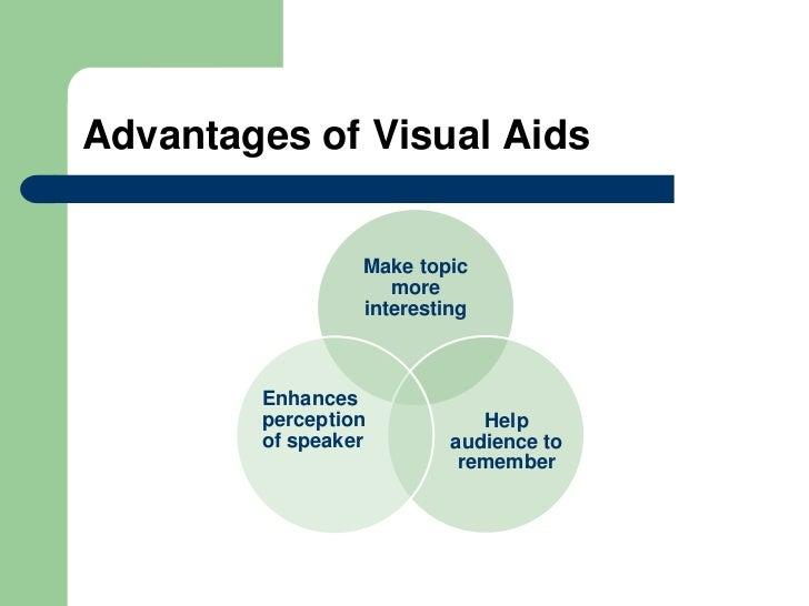 advantage of visual aids