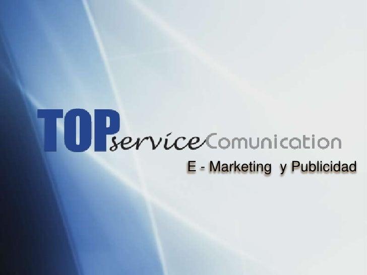 E - Marketing y Publicidad