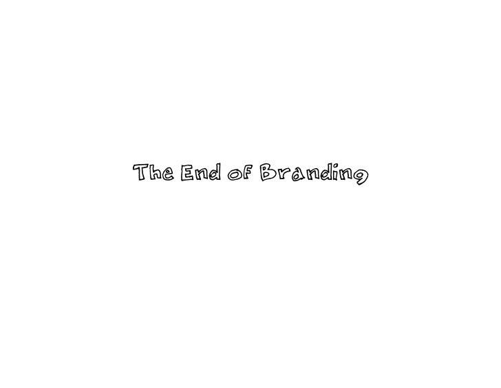 """Krimstein Presentation """"The End of Branding"""""""