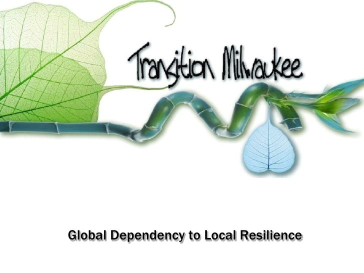 Global Dependency to Local Resilience<br />