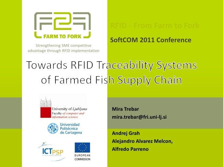 RFID from Farm to Fork 15 September 2011 SoftCOM, Croatia
