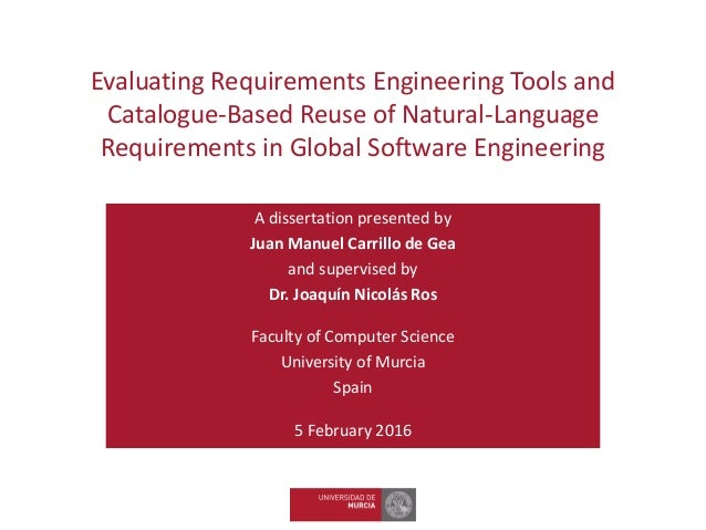 Phd thesis requirements engineering