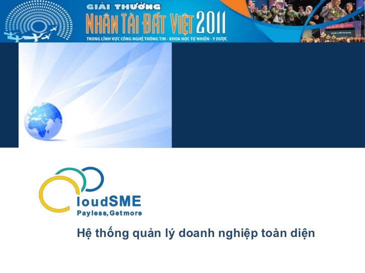 Sản phẩm sự thi NTĐV 2011 - CloudSME