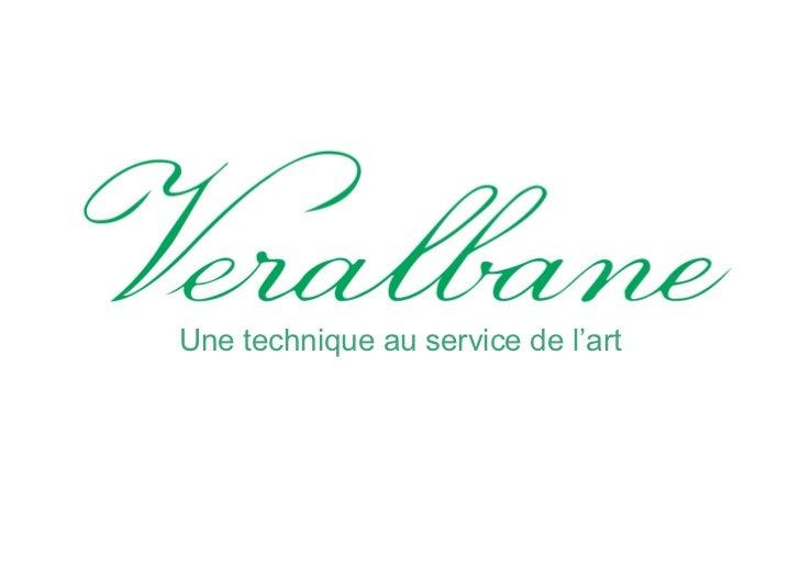 Présentation Veralbane - Albane Dolez